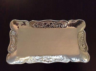 Silber Tablett / Schale 0.900 Handarbeit