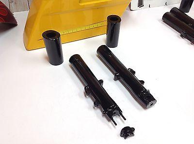 00-13 OEM Harley Road Glide Vivid Gloss Black 41mm Fork Sliders Lower Legs Cans