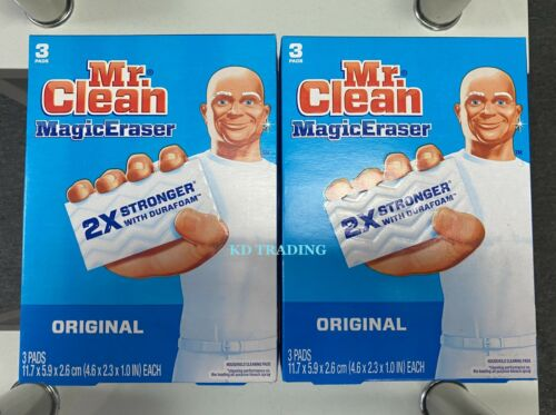 (6-Pack) Mr Clean ORIGINAL Magic Eraser Rooms Walls Grime Grease Cleaning Pads