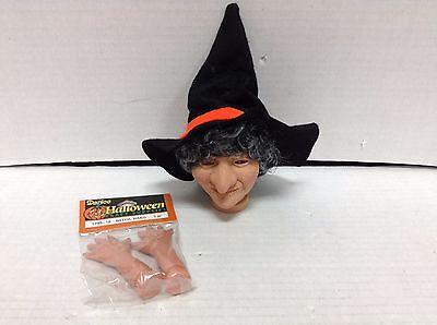 Darice Halloween Craft Supplies Vintage Witch Doll Head Hands Dollmaking 1299-13 Doll Craft Supplies