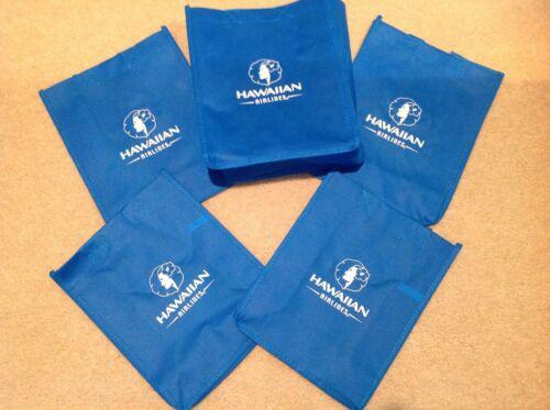 ~ Hawaiian Airlines reusable (Set of 5) Logo Bags ~