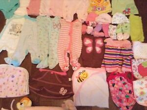 Baby girl items 0-3 months