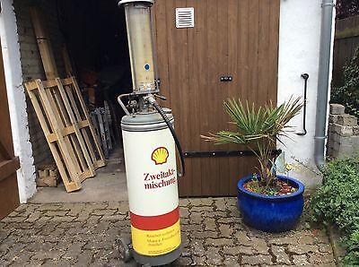 Tanksäule Zapfsäule Zweitakt Gemisch Shell Moped Vespa Roller Raum Hannover