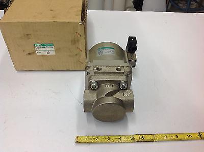Ckd Cvse2-25a-70-02g-1 High Pressure Coolant Valve 110v 1 Npt Ports. New