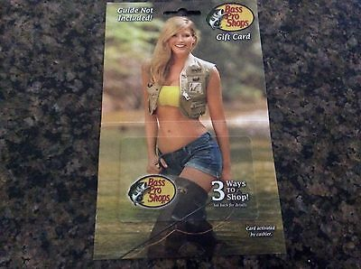BASS PRO SHOPS Gift Card No $ Value (collectible only) unused HOT Bikini Gal Pal ()