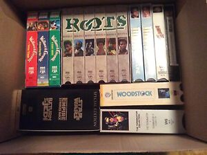 VHS collection of unusual titles