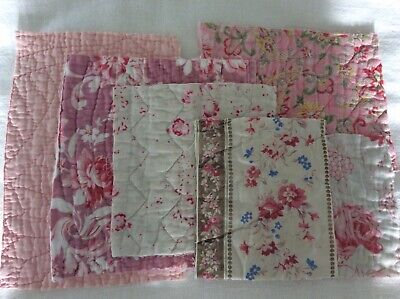6 Vintage quilt pieces for Projects, Crafts