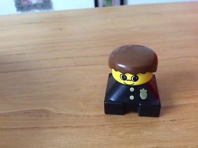 LEGO Duplo Polizist Polizei schwarz Abzeichen gold Figur Mann ALTE FORM ()