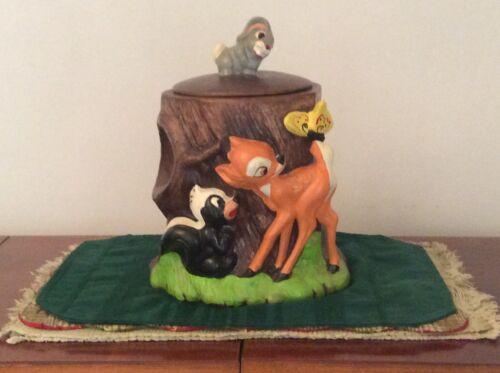 Vintage Walt Disney Prod. USA 868 Bambi Cookie Jar, Rare!