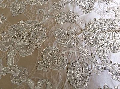 Vintage Silk Brocade Damask Jaquard Bridal/ Renaissance/Decor Fabric 55.5 x 90