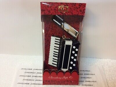 ACCORDION MUSICAL INSTRUMENT ORNAMENT BROADWAY GIFTS NEW IN RED WINDOW BOX
