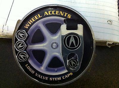 Acura  tire valve stem caps with keychain