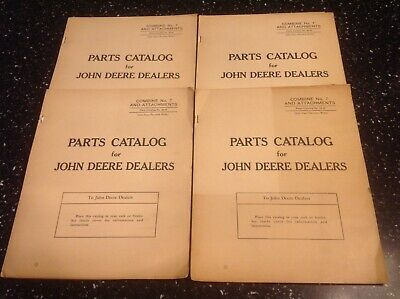 John Deere No. 7 Combine Attachments Parts Catalog 53-h Vintage
