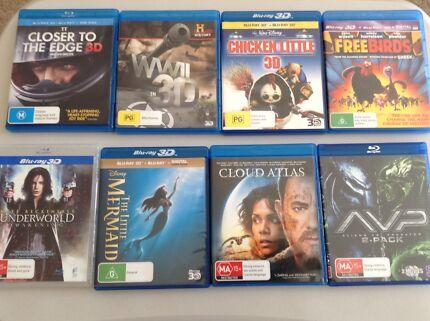 Movies 3D, Blu-Ray, DVD