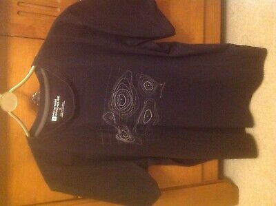 Men's Mountain Warehouse black t shirt with contour lines printed on front size (Warehouse On Line)
