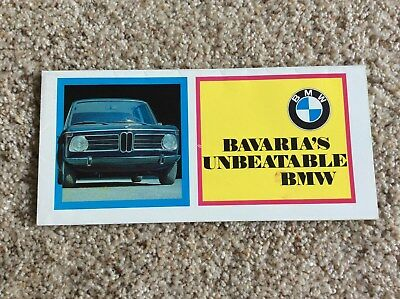 1970 BMW  Bavarias  original dealership showroom color sales handout