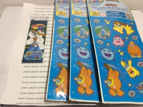 WEBKINZ STICKERS & BOOK MARK NEW in sealed packages LOT OF 3 PACKAGES STICKERS