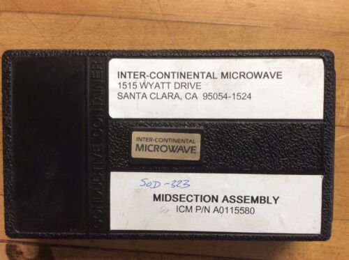 ICM A0115580 Midsection Assembly Inter-Continental Microwave Test Fixture Kit