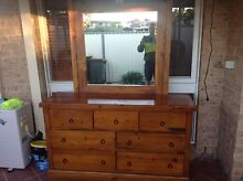 Matching Dresser and Bedside Table Rosemeadow Campbelltown Area Preview
