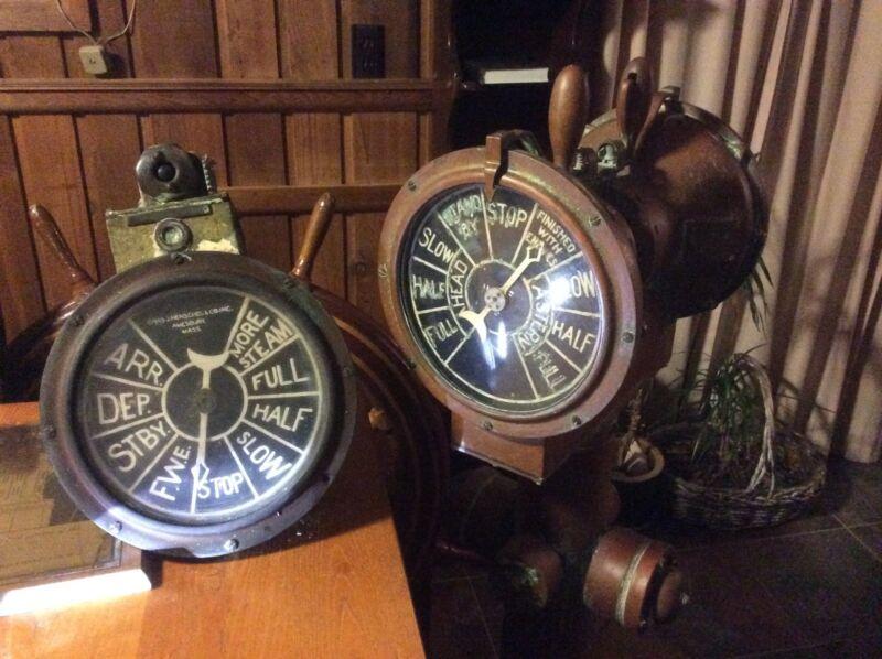 engine  and bridge telegraphs of SS Monterey,Matsonia,Lurline,Britanis Matson