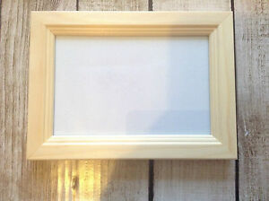 Wooden Pine Photo Frame Unfinished Paint Yourself Crafting 5 X 7 Decorative