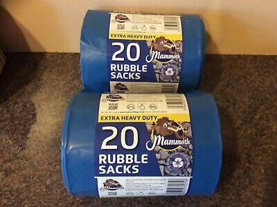 40 blue rubble sacks ex heavy duty 50 litre capacity post free.