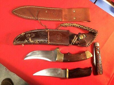 2 KNIFE COMBO CUSTOMIZED SET OK OLSEN sheaths