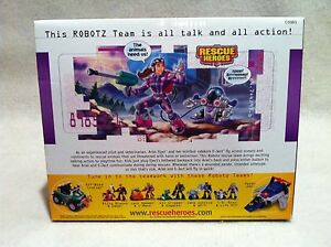 Rescue Heroes Robotz Team Ariel Flyer /& E-Ject Factory Sealed!