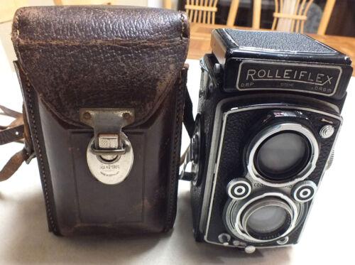 Vintage Rolleiflex DRP DRGM Twin Lens Frenke & Hiedecke Compur-Rapid Camera