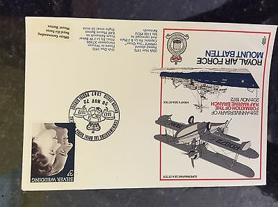 a2m r a f stamp frank cover 1972 marine branch 25th anniversary mount batten