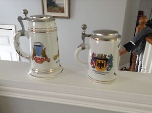 PAIR OF BADEN GERMANY TANKARDS CANADA MILITARY AIR FORCE 1978