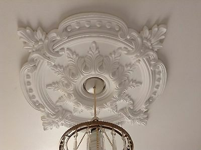 Ceiling Rose Plaster Traditional Victorian Pendant 72cm Light Decoration CR7