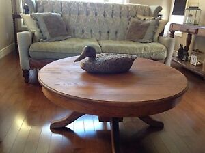 Country solid oak coffee table. CHECK OUT MY OTHER ADS