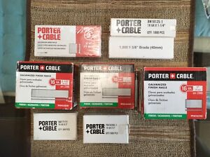 Porter Cable Galvanized Finish Nails and Brad Nails