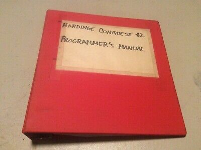 Hardinge Conquest 42 Cnc Lathe Programmers Manual