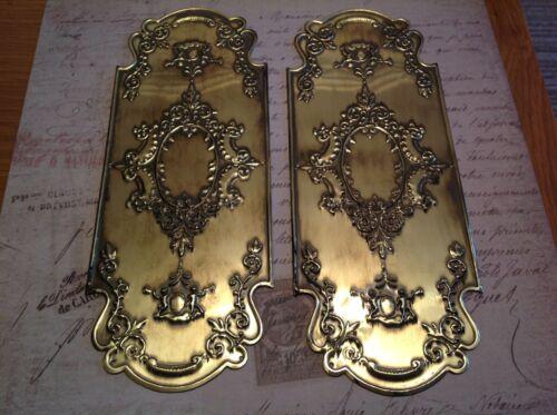 Reclaimed Solid Brass Door Finger Plates Antique finish Churb Design