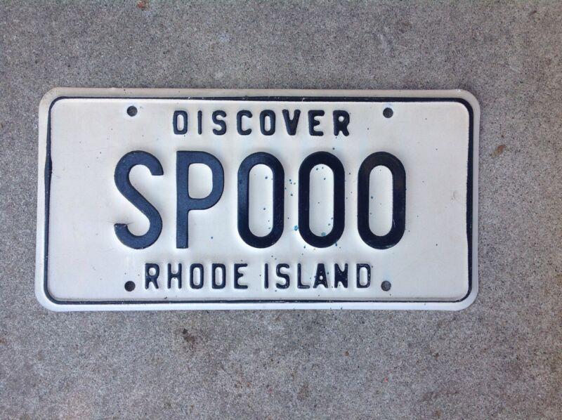 RHODE ISLAND - SAMPLE - LICENSE PLATE
