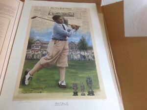 Lithographie du golfeur Robert T. Jones Jr.