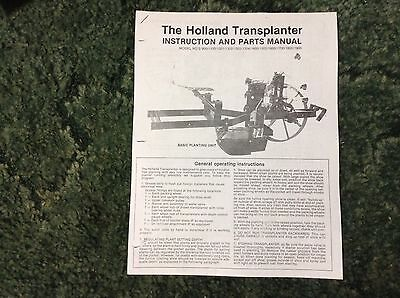 A New Parts Catalog For A 900 1100 1301 1302 Holland Transplanter Setters