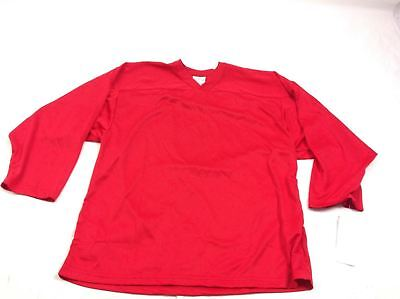 (CCM D7 Ice Hockey Jersey Practice Teenager Youth Red Shirt L/XL Longsleeve Top)