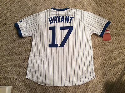 Kris Bryant Chicago Cubs Stitched Pullover Cooperstown  Jersey Size Xl