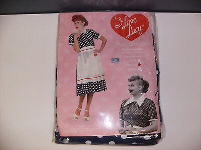 I LOVE LUCY POLKA DOT DRESS LUCILLE BALL WOMEN HALLOWEEN COSTUME MEDIUM - Lucille Ball Halloween