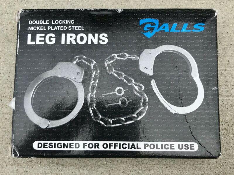 Galls Double Lock Leg Irons - handcuffs police restraint