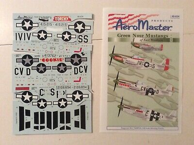 AeroMaster Decals 1:48 Green Nose Mustangs of East Wretham Part 1 48-634