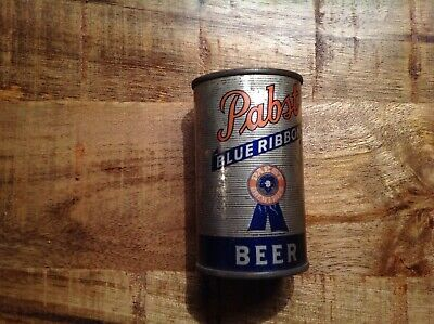 Vintage Pabst Blue Ribbon Beer Can Mini Tin Coin Bank Milwaukee