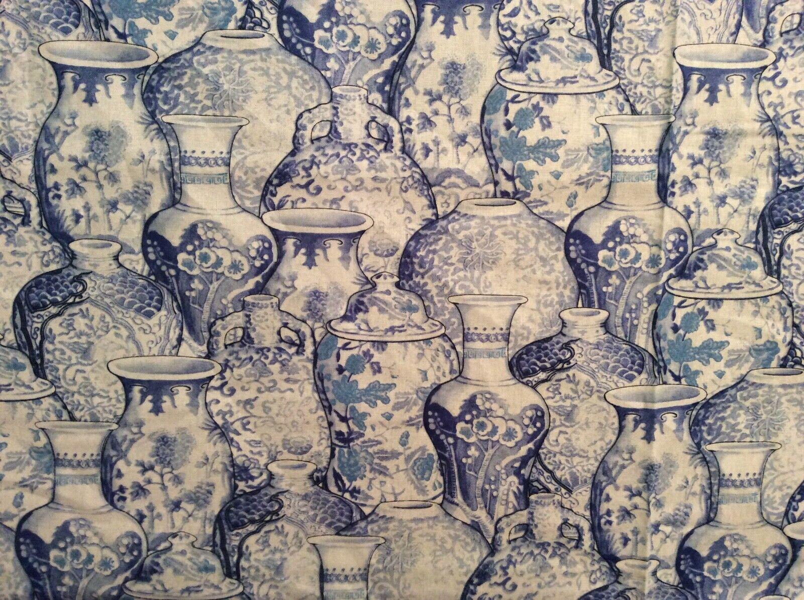 Peacock Arbor Ginger Jar China Porcelain Vase 100% Cotton Fa