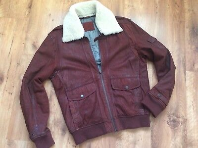 Mustang G-1Flight jacket lamm Lederjacke Shearling Kragen sheepskin gr.xl G1 Flight Jacket