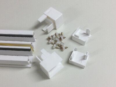 32 Schienen (PVC Rollladen Führungsschienen Rollladenführung 30x32mm weiß (Paar) 80cm - 240cm)