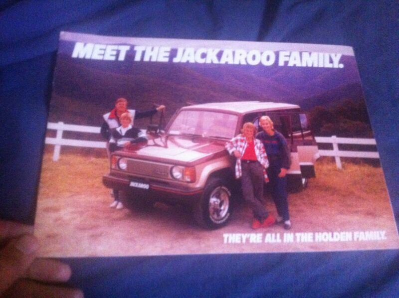 1980s Holden Jackaroo Isuzu Trooper from Australia Color Brochure Prospekt