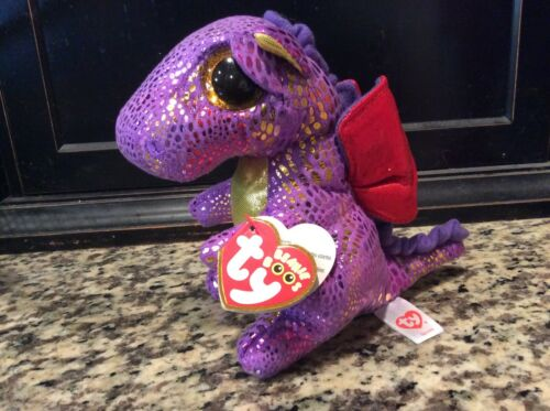 """Ty Beanie Boos SPECTRA the Dragon~Michaels Exclusive 6"""" MWMTS"""